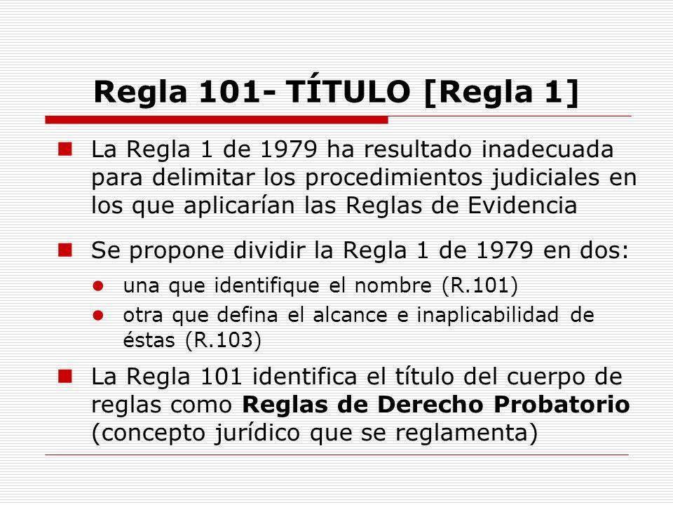 Regla 101- TÍTULO [Regla 1]
